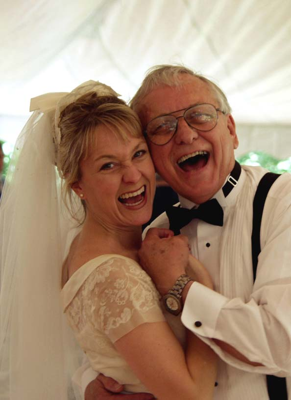 Julie and Dad here capture the spirit of this wedding!!