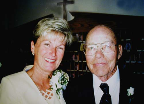 Mom and Granpa Kenny at Wes and Kim's Wedding, Sept. 25th,  1999