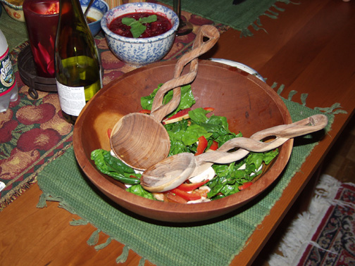 Shana's Spinach Salad (Thanksgiving 2001)